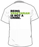Being Vegetarian Is Not A Crime T-Shirt