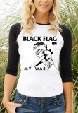 Black Flag Baseball Girl Longsleeve - My War