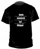 Kein Mensch ist illegal - T-Shirt (Stacheldraht)