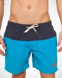 Block Swim Shorts navy turquoise