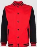 College Jacket textil rot/schwarz M