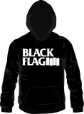 Black Flag - big logo (whiteprint) Kapuzenpullover