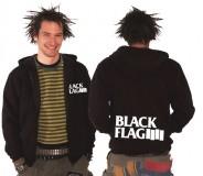Black Flag - big logo (whiteprint) Zipper