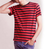 Stripy TShirt men black red