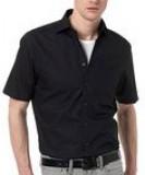 Herren Oxford Kurzarm Hemd schwarz S