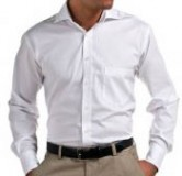 Herren Oxford Langarm Hemd weiß S