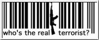 Fuck Barcodes - Motiv blackprint T-Shirt weiß