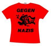 Gegen Nazis - Black Print Girlie TS