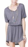 Flowy Shirt-Kleid grau