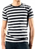 Stripy TShirt men black white