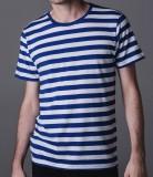 Stripy TShirt men white blue