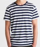 Stripy TShirt men white navy