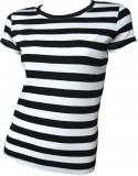 Stripy T Girl black white