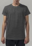 Stripped Tee charcoal/black