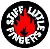 Stiff Little Fingers (flame) - Button