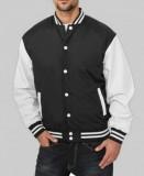 College Jacket textil schwarz/weiss