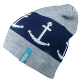 Coastal Bieanie, Anchor, grau