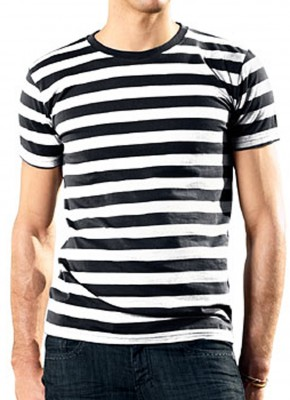 Stripy Shirt Black/White
