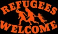 Refugees Welcome (ORANGE) Aufnäher