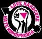 Love Hardcore Hate Homophobia -Aufnäher