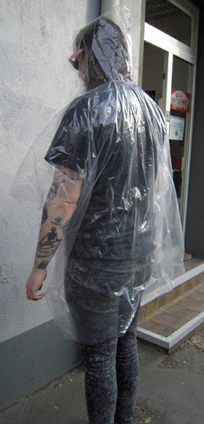 Regenhaut transparent